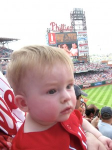 First Phillies game!