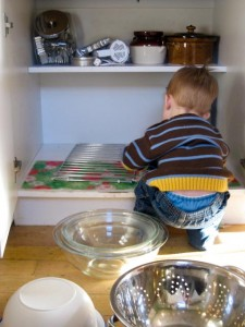 Digging through the cupboards