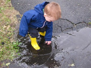 This puddle sure is cold!