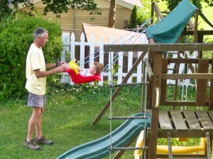 Swinging with Granddad