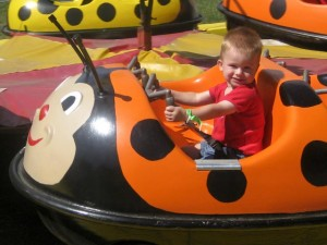 The ladybug ride was fun, too!