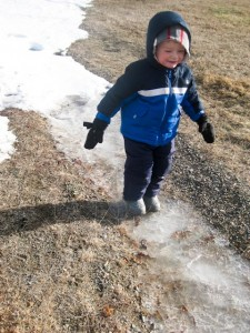 Sliding on an icy patch!