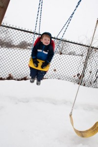 Snow swinging!