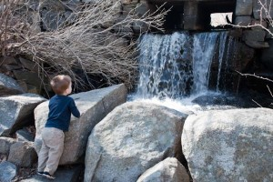 Checking out the waterfall