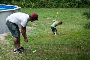 Playing golf with Uncle Erich