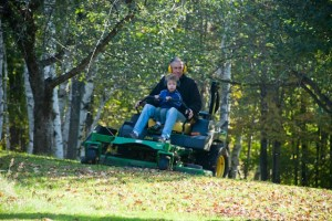 Lawn mower ride with Granddad
