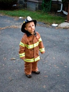 Happy Halloween from our little firefighter!
