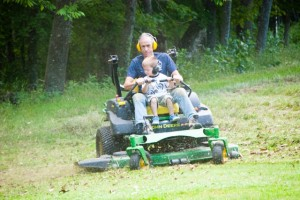 Mowing!
