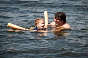 Swimming with Daddy!