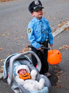 A Police Officer and the Halloween Bear