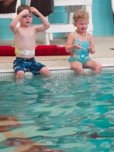 Swimming lessons (with Violet)
