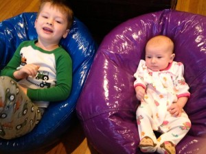 Together in bean bags