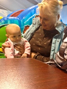 Sitting with Grandma (at Jungle Wonder)