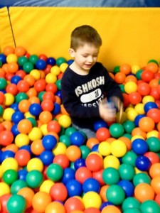 Loves the ball pit!