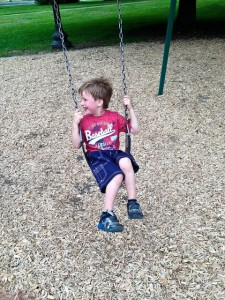 Swinging boy