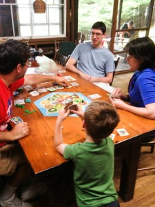 Justin also beat everyone at Settlers of Catan...