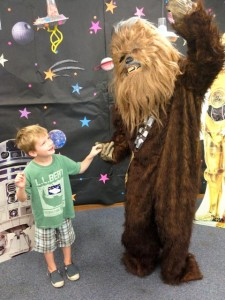 Dancing with a wookie (at the library, of all places)