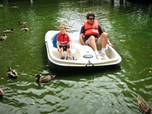 Paddle boat with Daddy (at York Zoo)